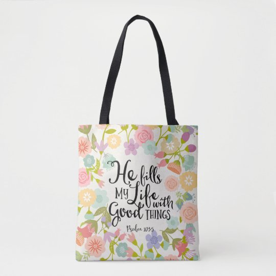 He Fill My Life All Over Print Tote Bag