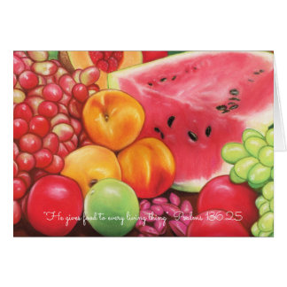 He gives food to every living thing Scripture Card