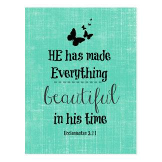 He has made everything beautiful bible verse postcard