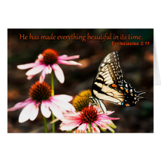 He has made everything beautiful blank card