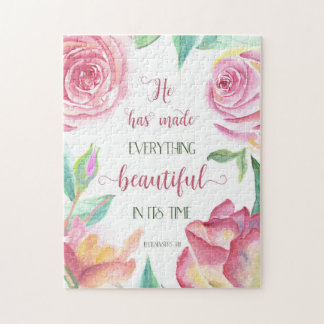 He Has Made Everything Beautiful Ecclesiastes 3:11 Jigsaw Puzzle