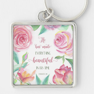 He Has Made Everything Beautiful Ecclesiastes 3:11 Keychain