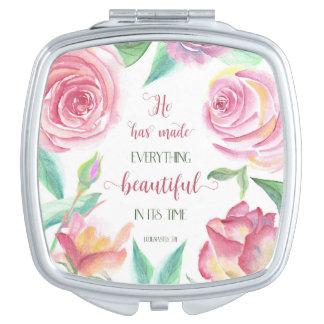 He Has Made Everything Beautiful Ecclesiastes 3:11 Makeup Mirror