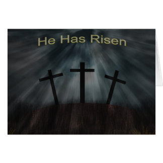 He has Risen (Easter Card) Greeting Card