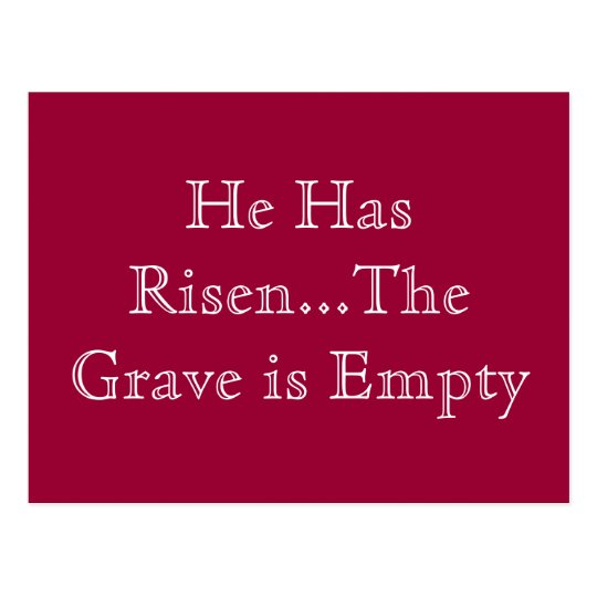 """HE HAS RISEN"" POSTCARD"