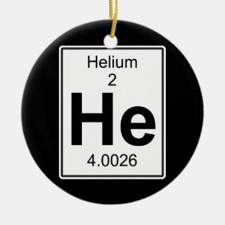 He - Helium Ceramic Ornament