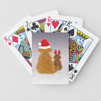 He is Coming at Midnight Bicycle Playing Cards