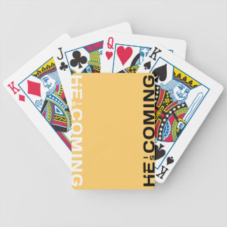 He Is Coming. Get To Know Him Today Poker Deck