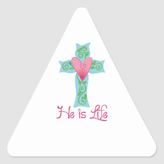 HE IS LIFE TRIANGLE STICKERS
