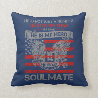 He is my Hero- Soulmate Throw Pillow