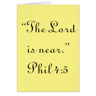 """""""He is Near"""" Scripture Greeting Card"""