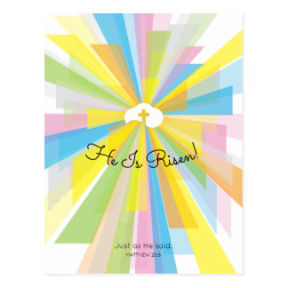 He Is Risen Easter Greeting Postcard