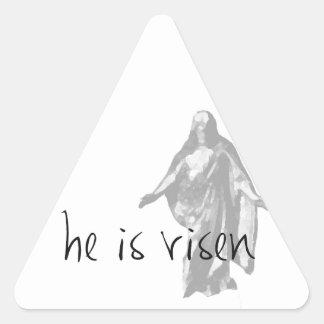 he is risen jesus christ easter lds mormon triangle sticker