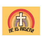 He Is Risen Religious Easter Postcard