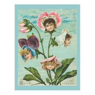 He Is Risen Vintage Christian Easter Postcard