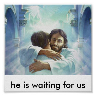 he is waiting for us poster