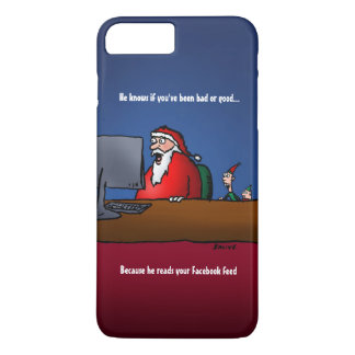 He Knows If You've Been Bad Funny Santa iPhone 7 Plus Case