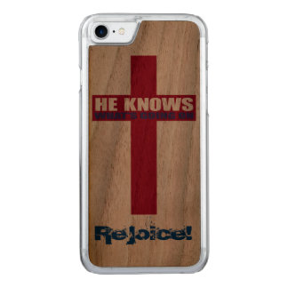 He knows, rejoice! carved iPhone 7 case