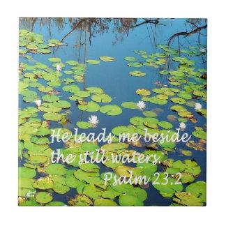 He Leads me Beside Still Waters Ceramic Tiles