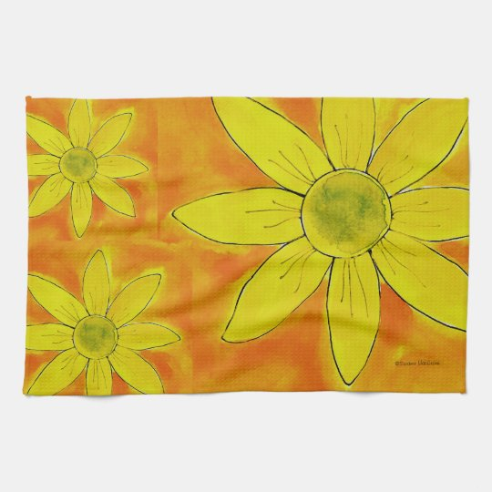 He Loves Me Daisy ~ American MoJo Kitchen Towel