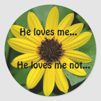 He loves me..., He loves m... Classic Round Sticker