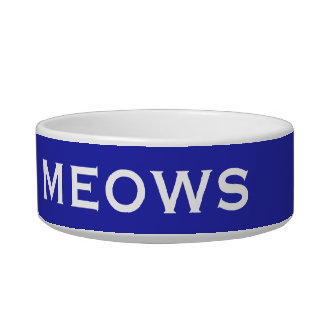He of the Meows Special Funny Male Tom Cat Name Bowl
