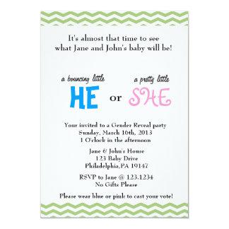 He or She Gender Reveal Invitation