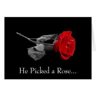 He Picked a Rose... Greeting Cards