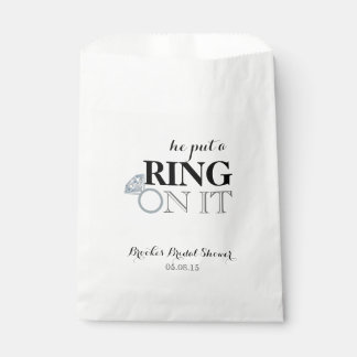 He Put a Ring On It Favour Bag