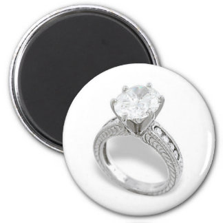 He Put A Ring On It/Save the Date 2 Inch Round Magnet