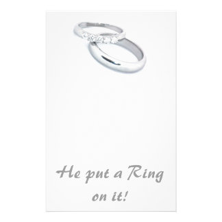 He Put a Ring on It Personalized Stationery