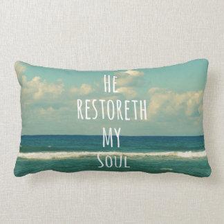 He restoreth my Soul Bible Verse Scripture Lumbar Pillow