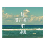 He restoreth my Soul Bible Verse Scripture Post Cards