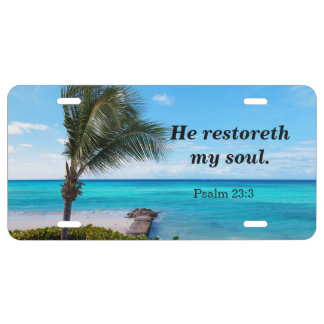 He restoreth my soul, Psalm 23:3 License Plate