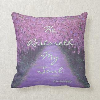 He Restoreth My Soul Throw Pillow