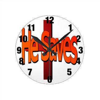 He Saves Clock