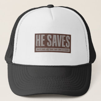 He Saves Trucker Hat