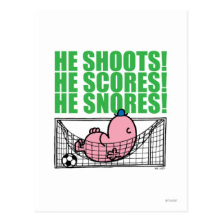 He Shoots He Scores He Snores Post Card