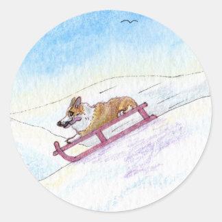 He was a speed fiend classic round sticker