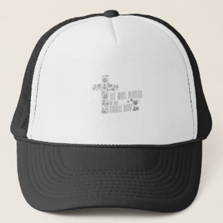 He Was Raised On The Third Day Christian Easter Trucker Hat