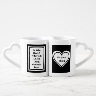 He Who Finds A Wife Nesting Mugs