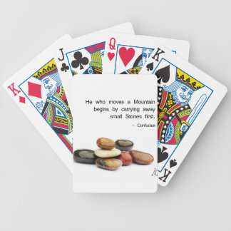 """He who moves a Mountain …"" (Confucius) Bicycle Playing Cards"