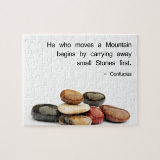 """He who moves a Mountain …"" (Confucius) Jigsaw Puzzle"