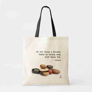He who moves a Mountain ... - Confucius Tote Bag