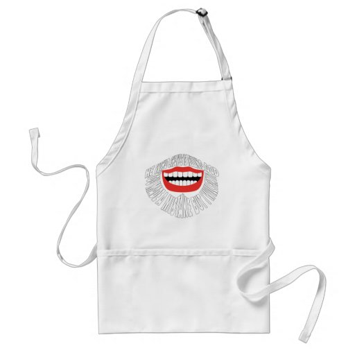 """HE WHO SHAVES IS TELLING GOD """"YOU MADE A MISTAKE B APRONS"""