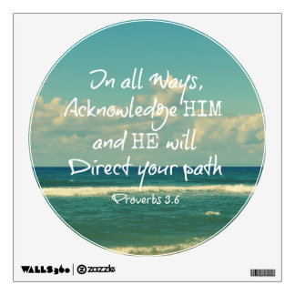 He will direct your Path Bible Verse Wall Decal