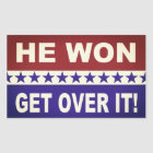 He Won Get Over It! Stickers