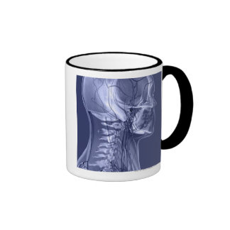 Head and Neck Blood Vessels Ringer Coffee Mug