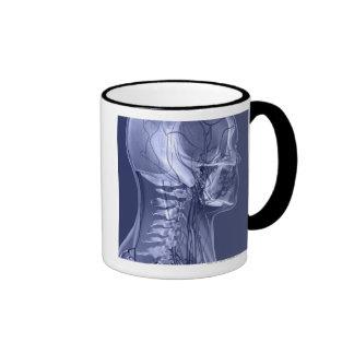 Head and Neck Blood Vessels Ringer Mug