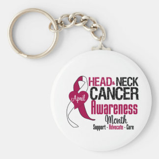Head and Neck Cancer Awareness Month Key Chain